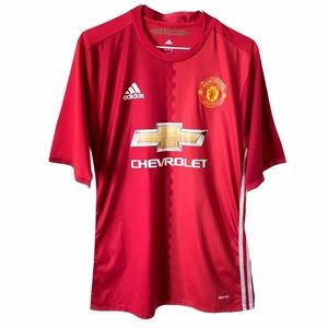 Manchester United Chevy Logo Adidas Jersey